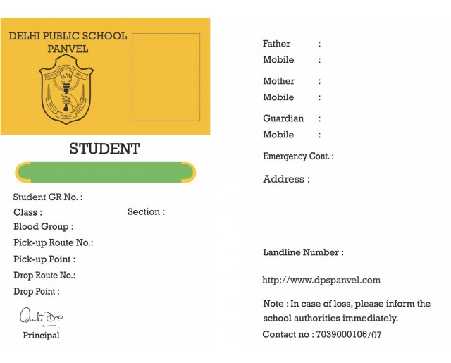 DPS ID Card (3 Qty)