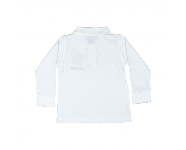 DPS Collar Full sleeve T-shirt - White