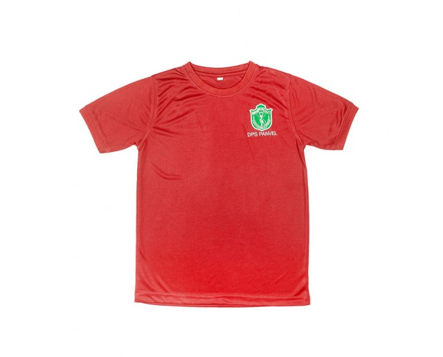 DPS House Color Roundneck T-shirt - Red House